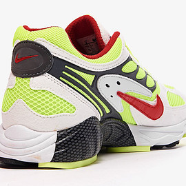 NIKE - Air Ghost Racer - White/Atom Red/Neon Yellow/Dark Grey