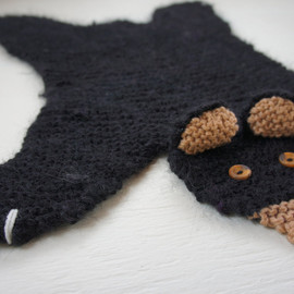 WolverineKnits - Flat black bear rug