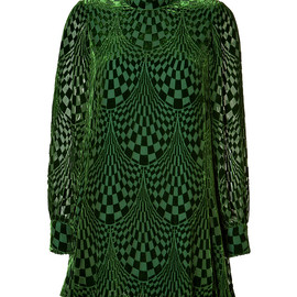 ANNA SUI - Burnout Velvet Dress