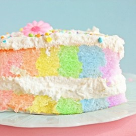 cake - pastel color cake
