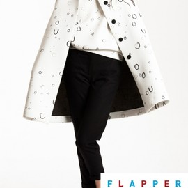 front row shop - water drop print coat