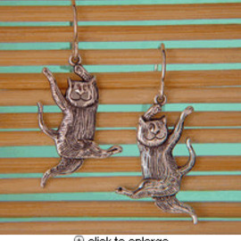 Edward Gorey - Dancing Cat Earring