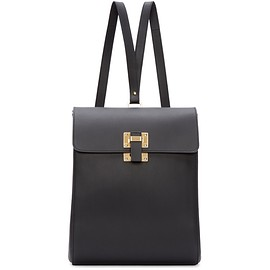 Sophie Hulme - Black Leather Structured Backpack