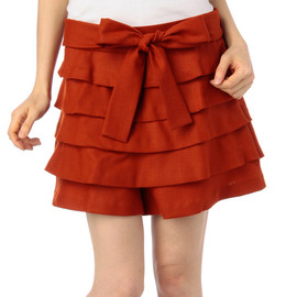 anatelier - ribbon tiered Flare pants