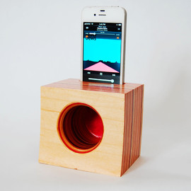 GenuineWoodworking - iPhone Speaker/Amplifier made from Reclaimed Skateboards