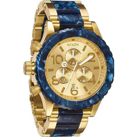 NIXON - Chrono Royal Granite Gold Tone