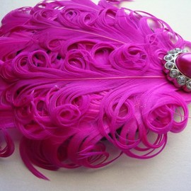 Luulla - Hot pink nagori feather headband