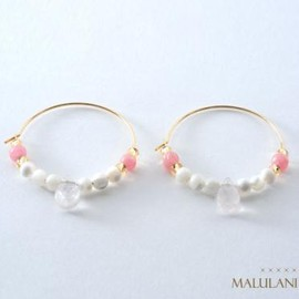 MALULANI HAWAII - innocent dropピアス(pink)