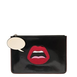 YAZBUKEY - C'est Ahh leather clutch