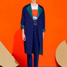 PONTI - Color Combination Coat (navy)