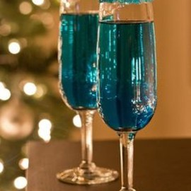 Blue Sparkling Star Cocktails