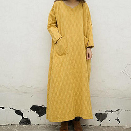 Women maxi dress, linen dress maxi, long dress, yellow dress, Cotton dress, Tunic dress