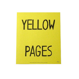 N store - YELLOW PAGES POSTER
