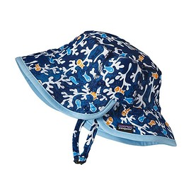 patagonia - Baby Little Sol Hat - Seaweed Fish: Channel Blue SWCB