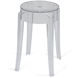 Kartell - Charles Ghost Stool (Short Clear) by Philippe Starck