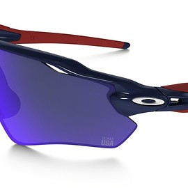 OAKLEY - Radar EV Path Team USA - DARK BLUE / POSITIVE RED IRIDIUM
