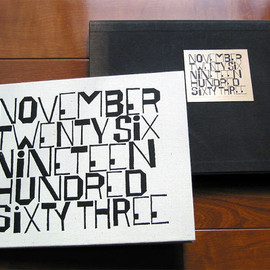 Ben Sharn - 「NOVEMBER TWENTY SIX NINETEEN SIXTY THREE」挿画本