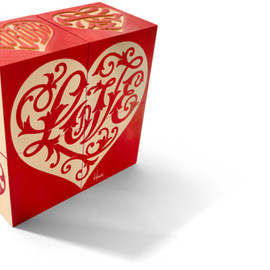 House Industries - Red House Industries Love Heart Blocks