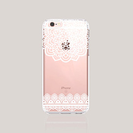 bycser - Christmas iPhone Cases Clear Lace iPhone 6S Plus Case Womens Accessories iPhone Case iPhone 6 Case