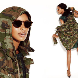 J.CREW - Boyfriend fatigue jacket in camo