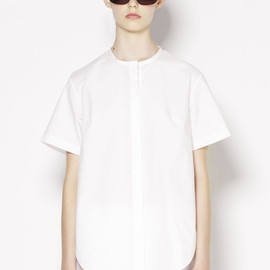 3.1 Phillip Lim - SHORT SLEEVED SHIRT WITH CHIFFON BACK