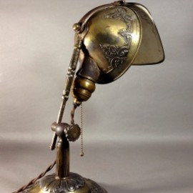 "アメリカ - 1910's ""LYHNE"" Brass Desk Lamp"