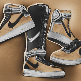 "Riccardo Tisci, Nike - NIKE+R.T. AIR FORCE 1 ""Triangle Offense"" Beige Collection"