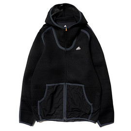 adidas by kolor - Spacer Hoodie - Black/Grey