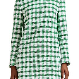 Thom Browne - Gingham Cotton-Blend Tweed Shift Minidress