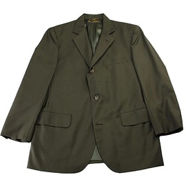 Brooks Brothers - Vintage Brooks Brothers Olive Green 3-Button Pure Wool Suit Jacket Made in USA Mens Size 38S