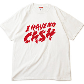 "MILLION RACE - S/S TEE ""I HAVE NO CASH"" (White)"