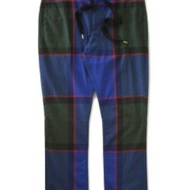bal - Big Plaid Drawstring Pant (navy)