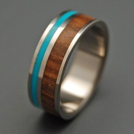 wood - turquoise - silver