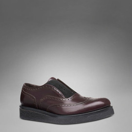 Yves Saint Laurent - Thick Soled Oxford in Brown Leather