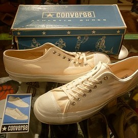 "converse - 「<deadstock>60-70's converse NET STAR OX white""made in USA"" size:US11(29.5cm) 35800yen」完売"