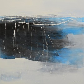 Aiello Sergio - Crossing the Black: landscape#8, mixed media on canvas