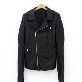 RICK OWENS - LEATHER JACKET-DOBLUE-