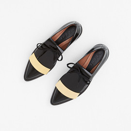 Marni - Marni Metal Trim Tongue Derby (Coal)