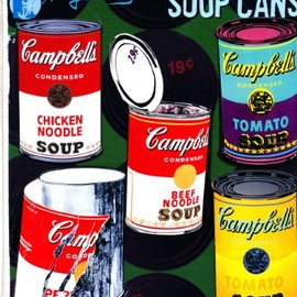 Andy Warhol  - Campbell's  Soup Can Magnets