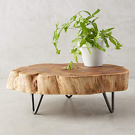 Anthropologie - footed wood stand