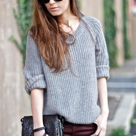 cute coordination with sweater