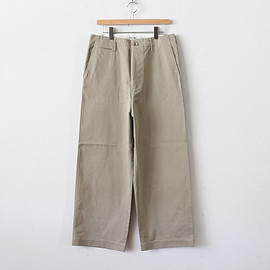 AURALEE|MEN - WASHED FINX CHINO WIDE PANTS #LIGHT KHAKI [A8AP01CN]