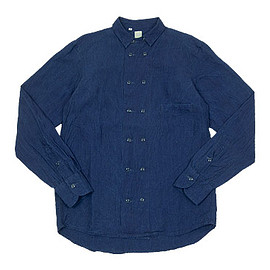 TATAMIZE - DOUBLE BRESTED LINEN SHIRTS INDIGO