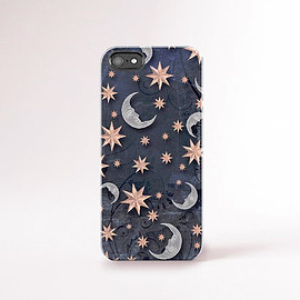 csera - Stars iPhone Case Rose Gold Silver Color 90's iPhone Case Star Moon iPhone 6 Case Galaxy