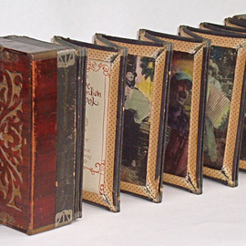 Catherine Nash - The Wandering Book Artists are well known for their accordion books, in which they alter an instrument in order and recreate it into a book about accordion players and music. PHOTO COURTESY PETER AND DONNA THOMAS
