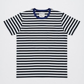 agnes b. for Adam et Rope' - BORDER POCKET T-SHIRT S/S noir/bleu
