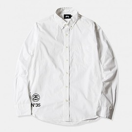 STUSSY, Fragment Design - SF B.D. Shirt - White