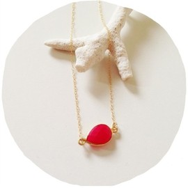 kicca - power stone necklace (ピンクカルセドニー)14kgf