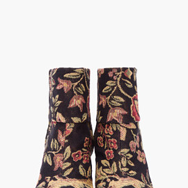 RAG & BONE - Black Floral Canvas NEWBURY Boots