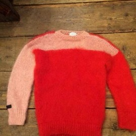 SEDITIONARIES(a store robot) - mohair jumper(red x pink)